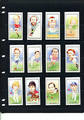 Dutton's Beers 1981 Trading Cards Sporting Heroes Complete Set Of 12 Cards