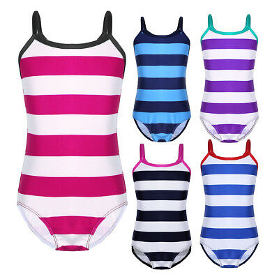 Baby Toddler Swimming Costume One-piece Striped Swimsuit Swimwear Bathing Suit