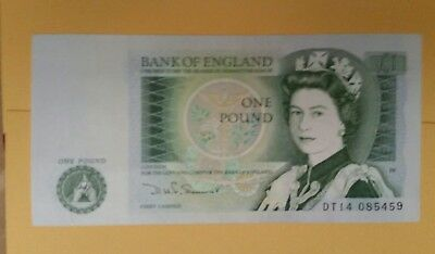 Bank of England ONE POUND NOTE £1 Somerset =UNC NOTE  DT14085459
