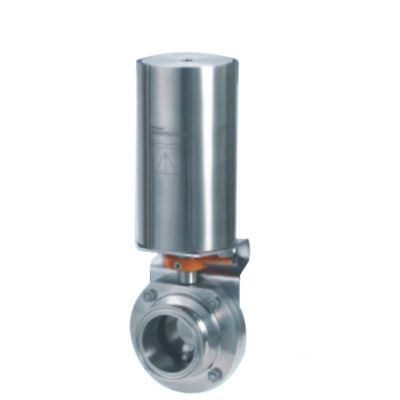 """Triclamp Sanitary 2 """" butterfly valve pneumatic actuator Stainless Steel /SS304"""