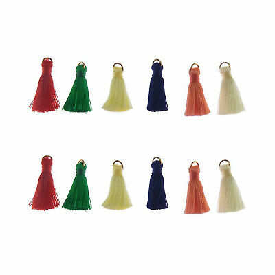 Pack of 10 Mini Tassels Multi-colored Earring Pendant Jewellery Craft Findings
