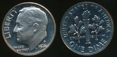 United States, 1976-S Dime, Roosevelt - Proof