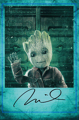 Vin Diesel Signed Autograph Guardians of the Galaxy Vol.2 Baby Groot 4x6