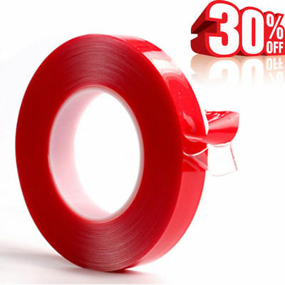 Double-sided Heat Resistant Adhesive Transparent Clear Tape Red Acrylic Tape 3M