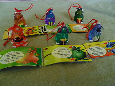 YOWIES * XMAS 2000 LIMITED EDITION * FULL SET of 6 RED CORD XMAS MEN