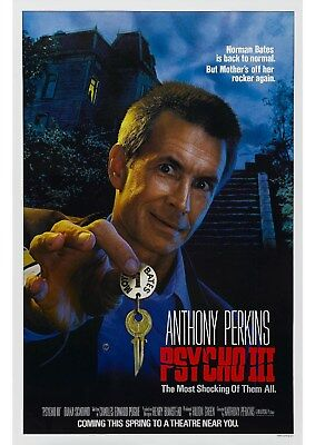 Psycho 3 - Anthony Perkins - A4 Laminated Mini Movie Poster
