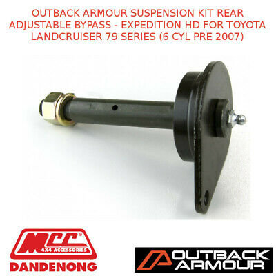 Outback Armour Susp Kit Rear Adj Bypass-Expd Hd Suit Toyota Lc 79S 6 Cyl Pre 07