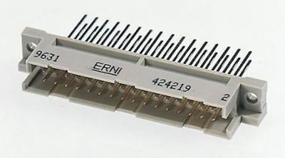 ERNI 48 Way 2.54mm Pitch, Type R/2 Class C2, 3 Row, Right Angle DIN 41612 Connec