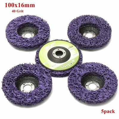 5x 4'' 100mm Poly Strip Disc Wheel Paint Rust Removal Clean For Angle Grinder UK