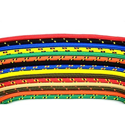 8mm Strong Braided Polypropylene Plaited Poly Rope Cord Boat CHOICE OF 14 COLORS