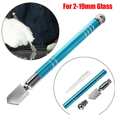 Glass Mirror Cutter Cutting 2-19mm Thickness Oil Tipped Craft Glazing Blade Tool