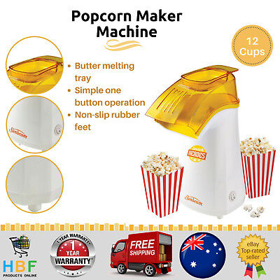 Sunbeam Popcorn Maker Machine Electric Popper Home Cooker Popping Hot Pop Corn