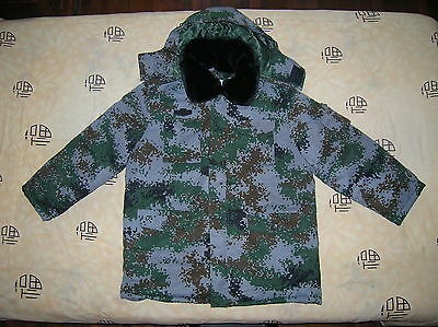 07's series China PLA Winter Woodland Digital Camouflage Combat Cotton Overcoat