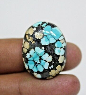25 Cts NATURAL GENUINE TIBET TURQUISE CABOCHON OVAL SHAPE LOOSE GEMSTONES