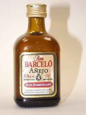 Rum Barcelo Anejo 5 cl 37,5% mini flasche bottle miniature bottela mignonnette