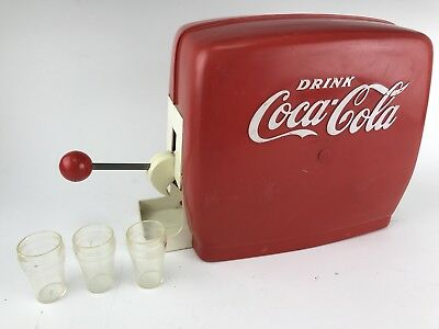 Vintage Toy Coke Machine Diner Soda Fountain Coca Cola Plastic Not Working