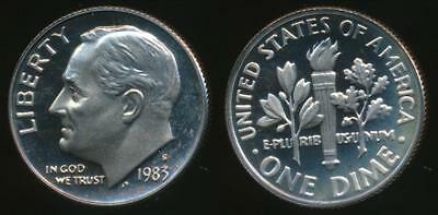 United States, 1983-S Dime, Roosevelt - Proof