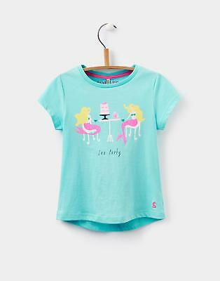 Joules Pixie Screen Printed T shirt in Harbour Blue Size 3yrin4yr