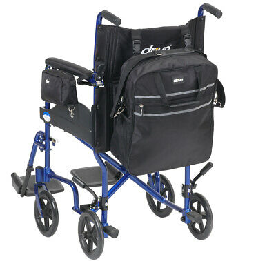 2 Bag Set Wheelchair Or Scooter Zip Top Over Back Bag And Pannier Arm Pack