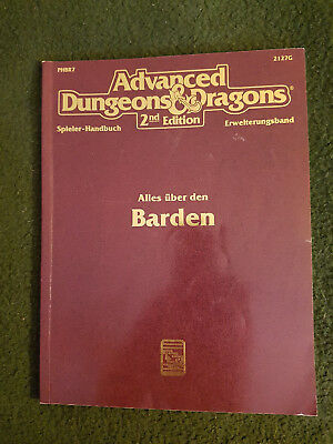 AD&D/Dungeons and Dragons/D&D - Alles über Barden - TSR 2127G