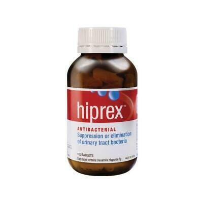 New Hiprex 1g 100 Tablets Suppress Eliminate Urinary Tract Bacteria UTI Exp 2021