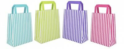Candy Stripe Flat Handle Bags ~ Birthday Party Paper Gift Bag  * Multi listing *