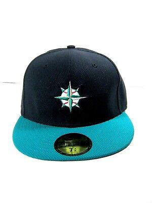 f43797e705e New Era 59Fifty SEATTLE MARINERS Hat Compass Logo 2016 Fitted Cap Size 7-1