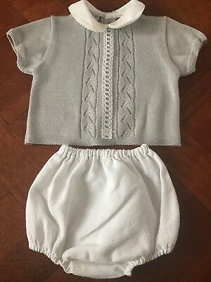 Baby Boys Traditional Spanish Outfit Summer Age 3-6 Months Excellent Condition