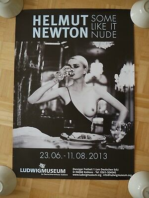 HELMUT NEWTON - some like it nude -   ORIGINAL POSTER