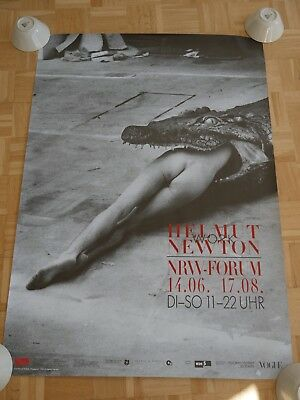 HELMUT NEWTON - work - Crocodile Eating Ballerina - 116x78cm - ORIGINAL POSTER