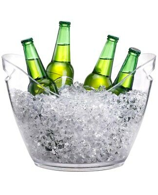 NEW Modern Large Clear Acrylic 7.5L Ice Cooler Beer Bucket Champagne Drinks Wine