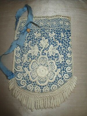 Very nice Brussels lace vintage purse ca.1880 fom Belgium. Very good condition