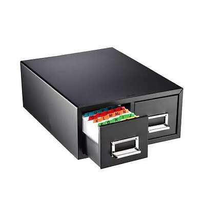 STEELMASTER® Steel Card Double File Drawers,4 x 6, holds 3,000/cds,263F4616DBLA