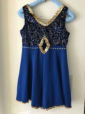 Royal Blue Sequinned Curtain Call Costume Dance Costume - Adult Med