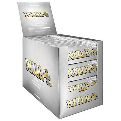 Rizla Silver Regular Cigarette Rolling Smoking Papers - FULL BOX - 100 Booklets