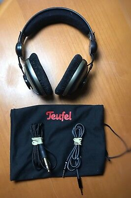 Teufel Aureol Real HD Kopfhörer Over Ear PC 3,5mm Headphone Schwarz/Gold