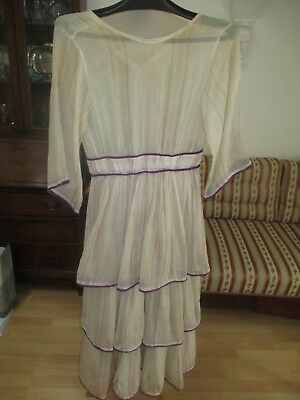 Young lady´s summer daydress ca.1915-18 cream coloured linen