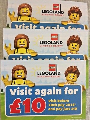 X3 Legoland Windsor Resort Visit Again For £10 Vouchers (visit before 20th July)