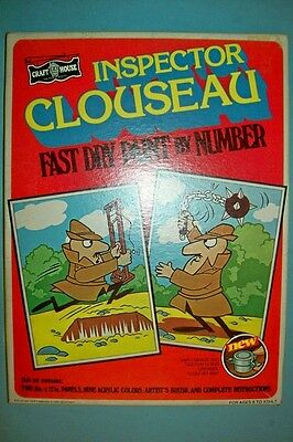 1979 Inspector Clouseau Paint by Number Set by Craft House - Factory Sealed