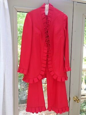 Vintage Women's 1970s Red Pant Suit Size 10