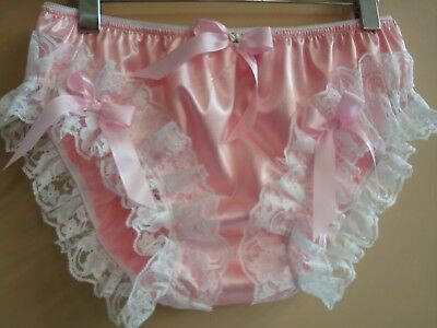 nel-jen Pink High Leg Lace Sissy Ruffle Panties - Custom Made Nickers