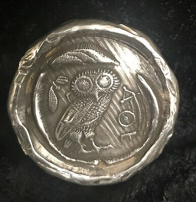 """1 Ozt MK BarZ """"Owl of Athena!"""" Copy Ancient Coin .999 Silver"""