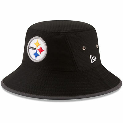 Pittsburgh Steelers Nfl New Era Official On Field Training Camp Bucket Hat  Black f448afe5995b