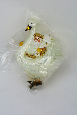 Patricia Breen 2000 Christmas Ornament Swan Boat Santa Gold 2094 New In Package