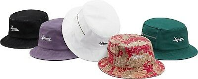 SUPREME Zip Twill Crusher Black Floral Light Purple box logo camp cap tnf  S S 61fd1ffaa814