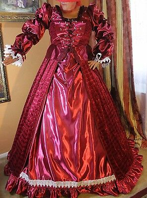 Renaissance Victorian Medieval Dress gown costume theater stage cosplay XL-XXL