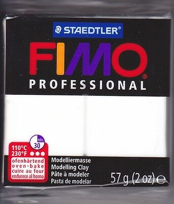 Huge Lot 48 Bar White Fimo Professional Soft Oven Bake Polymer Clay EF8005-0 57g