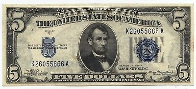 1934-A $5 Silver Certificate - Five Dollars - AS75