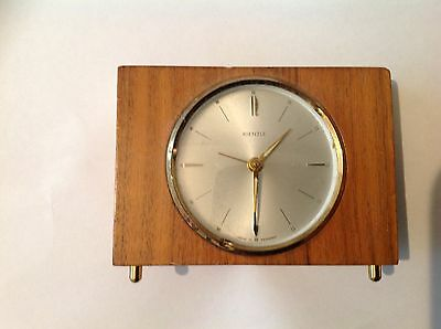 Rare Vintage German Miniture Kienzel Wind Up Mantle Alarm Clock. Needs a Service