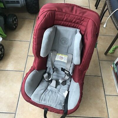 Orbit baby G2 Burgundy Red Toddler Car Seat With Side Braces Exp 2020